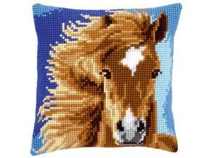 Bilde av Broderisett pute Brun hest