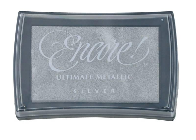 Stempelpute - metallic ink pad 12 Silver L